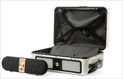 מזוודה נומדיק עם הרמקול של חברת מורל 399 דולר במקום 599 דולר, באתר של המותג