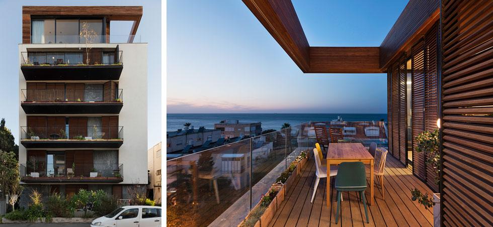 ''הרבה אנשים עוצרים ומצלמים'', גאה האדריכל, ''והבניין מקבל תגובות מאוד חיוביות'' (צילום: ליאור גרונדמן)