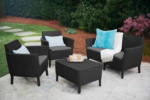 כתר. עד 38% הנחה על המוצרים באתר ובסניפים. סט רהיטים מדגם סלמו  ב- 1,199 שקל (במקום 1,499 שקל) (צילום: סטודיו כתר)