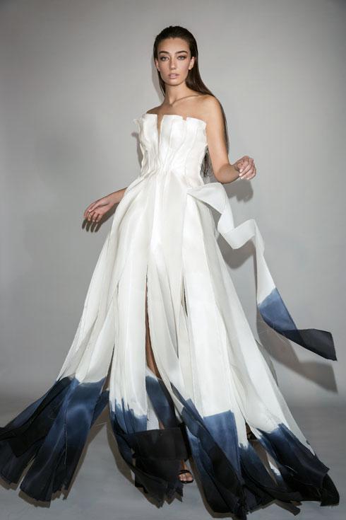 קרעים של תקווה. השמלה בעיצובו של שי שלום  (צילום: דביר כחלון)
