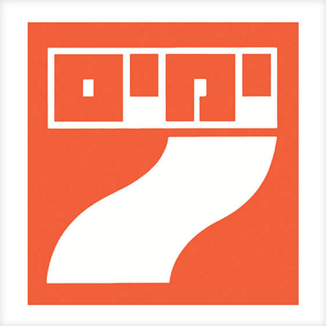 הלוגו ארוך השנים של מוסף 7 ימים, עד שהוחלף לפני כמה שנים (איור: דן ריזינגר, באדיבות מכון שנקר לתיעוד וחקר העיצוב בישראל)