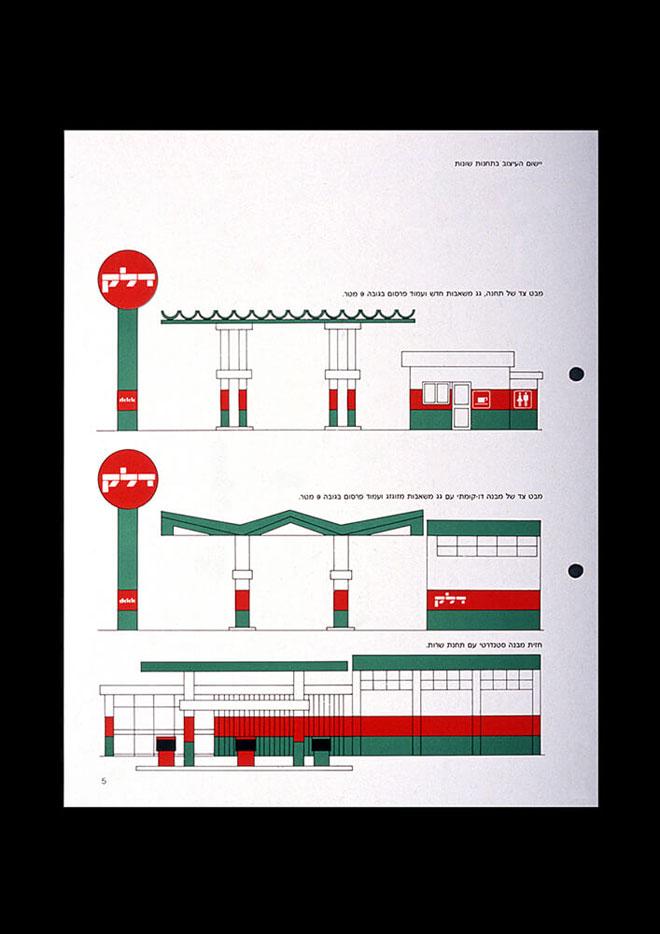 המיתוג של חברת ''דלק'' (איור: דן ריזינגר, באדיבות מכון שנקר לתיעוד וחקר העיצוב בישראל)