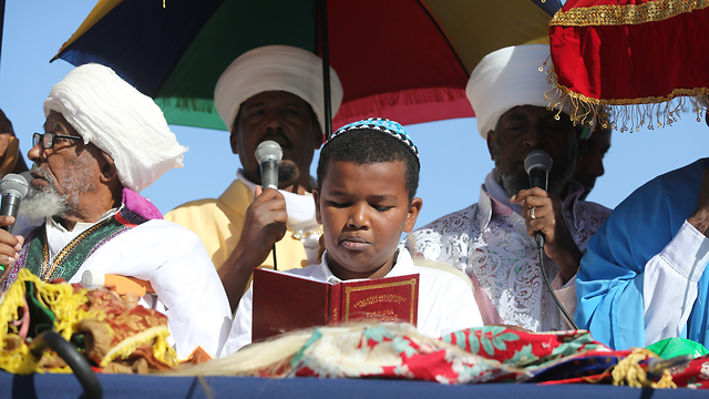 אירועי חד הסיגד אירועי חג הסיגד בארמון הנציב ירושליםהנציב ירושלים (צילום: אלכס קולומויסקי)