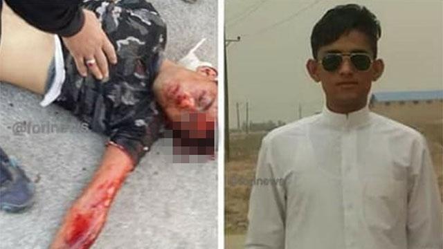 איראן מהומות הרוג רזא נייסי בן 16 ()