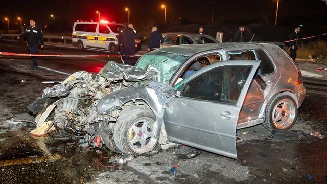 תאונת דרכים צומת גבעת זאב (צילום: קים צילום)