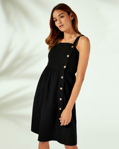 ואפשר גם: שמלת חוף שחורה של ליפסי, 59 שקל במקום 171 שקל (צילום: מתוך next.co.il)