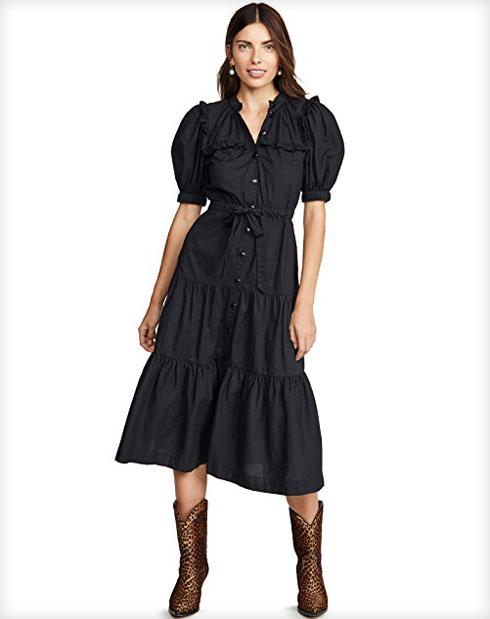 ואפשר גם: שמלת כותנה שחורה עם קפלים, 841.72 שקל במקום 990.26 שקל (צילום: מתוך shopbop.com)