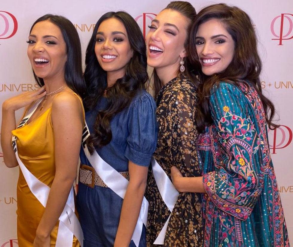 המדינות שהכי כיף לעשות בהן טיול אחרי צבא. מימין: מיס הודו, אני (מיס ישראל בשבילכם), מיס צ'ילה ומיס נפאל  (צילום: אלבום פרטי )