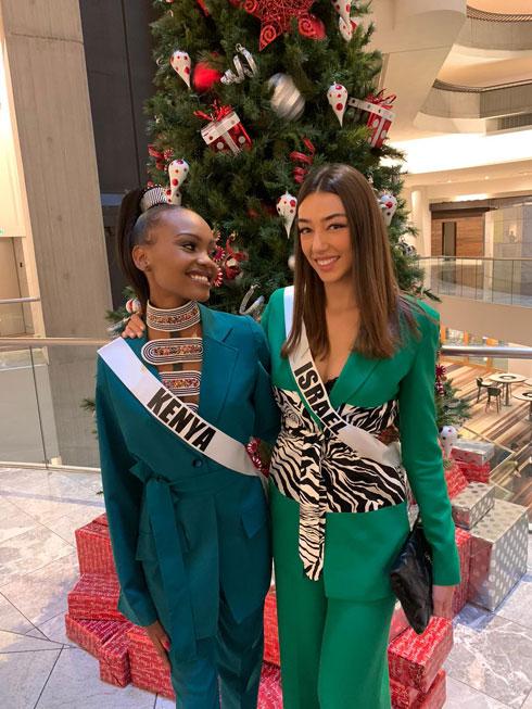עושה לנו כבוד! מיס ישראל עם מיס קניה  (צילום: אלבום פרטי )