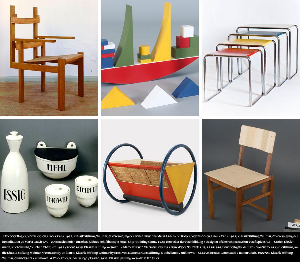 ששת המוצרים האלה הם דגימות מהשפע המסחרר שיצא תחת ידיהם של התלמידים והמורים בבית הספר: מהעריסה הניסיונית ועד הכיסא האיקוני של מרסל ברויאר