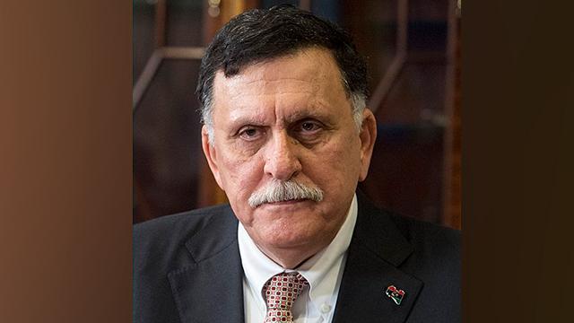 לוב ראש ממשלה של הקואליציה ב טריפולי פאיז א סראג' ()