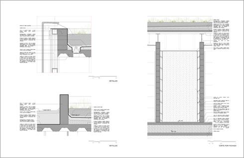 חתכים ותוכניות המקווה במקסיקו סיטי (תוכנית: arqhė studio)