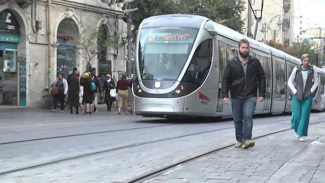 Иерусалимский трамвай. Иллюстрация. Фото: Гиль Йоханан