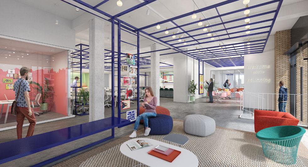 הדמיה של מטה ומשרדי חברת Wix בניו יורק, פרויקט שעליו הם שוקדים  (הדמיה: הדמיות aand)