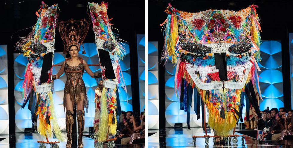 מיס תאילנד עם אחת התלבושת המרשימות  (צילום: Patrick Prather, Miss Universe)