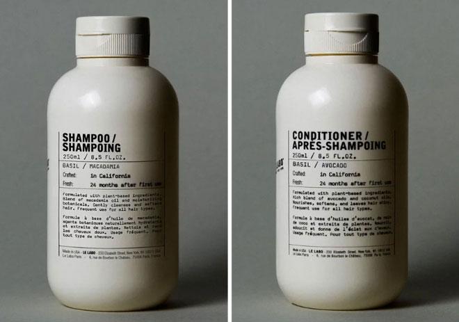 הם אומנם לא נמכרים בישראל, אבל זמינים אונליין. שמפו ומרכך של Le Labo (צילום: מתוך lelabofragrances.com)