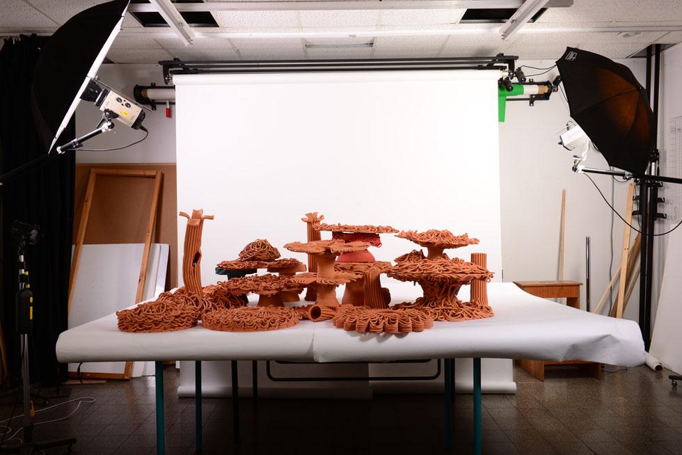 ''אם לא נעשה דבר, בעוד 20 שנה למעלה מ-90% משוניות האלמוגים על כדור הארץ ייעלמו'', אומר הפרופ' עזרי טרזי, ראש מעבדת ''דיזיין טק'' בטכניון וצוללן נלהב. שוניות האלמוגים המלאכותיות שפיתח עם ביולוגים ימיים עשויות טרקוטה וכבר מוכיחות את עצמן, כפי שאפשר לראות בסרטון הבא (Ezri Tarazi, xCoral, 2019 photo studio Haim Zinger)