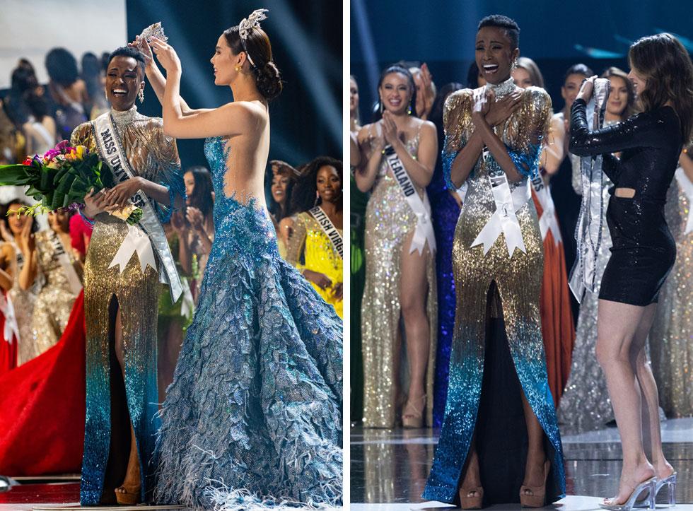 מיס יוניברס 2018 קתריונה גריי מעניקה את הכתר ליורשת טונזי  (צילום: Frank L Szelwach, Alex Mertz,  Miss Universe)