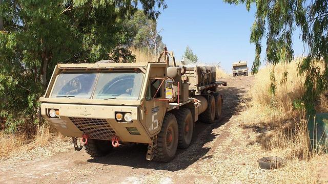 תרגיל חטיבת האש החדשה 215 בזירה הצפונית (צילום: דובר צה