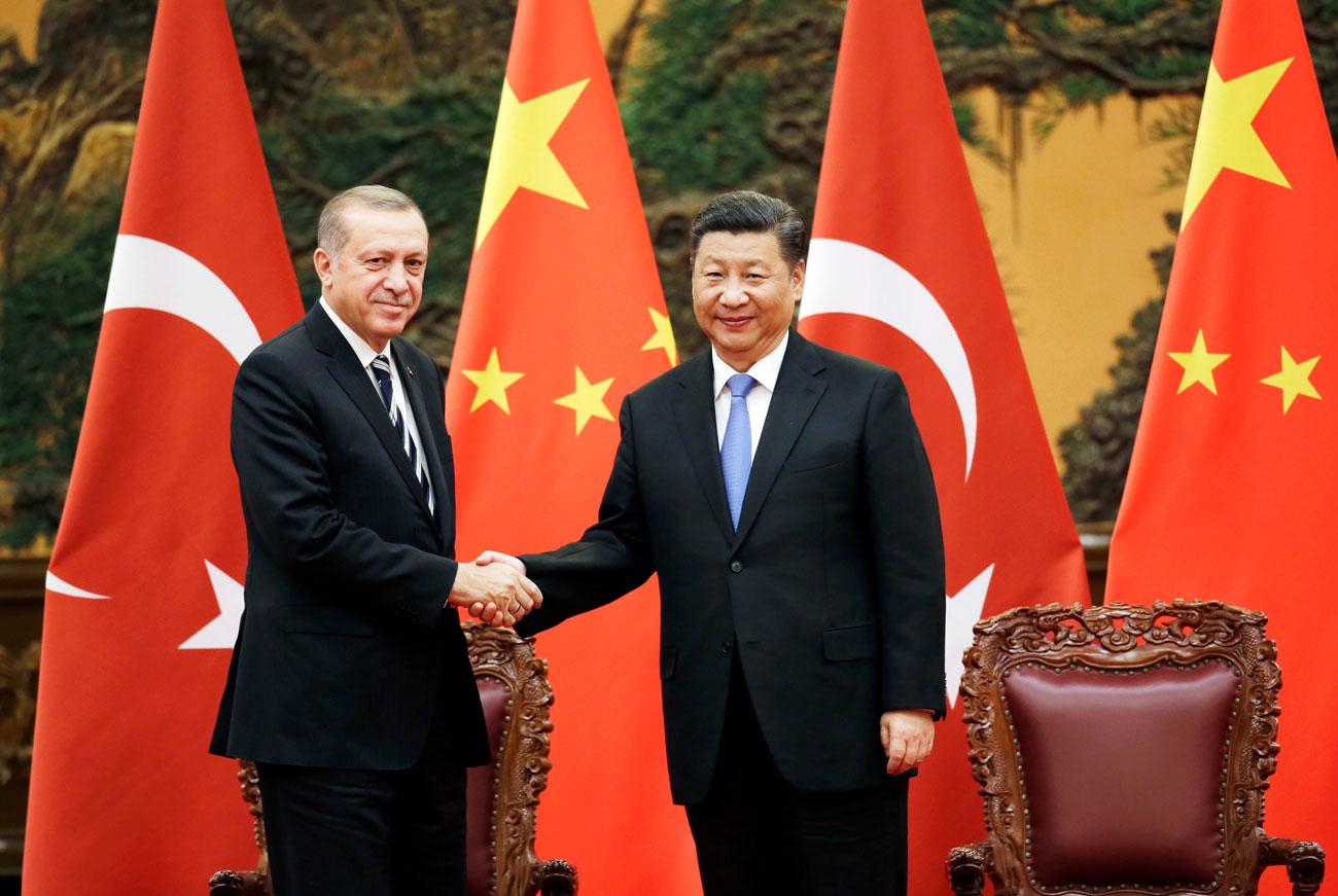 פרויקט העשור סין שי ג'ינפינג רג'פ טאיפ ארדואן (צילום: AP)