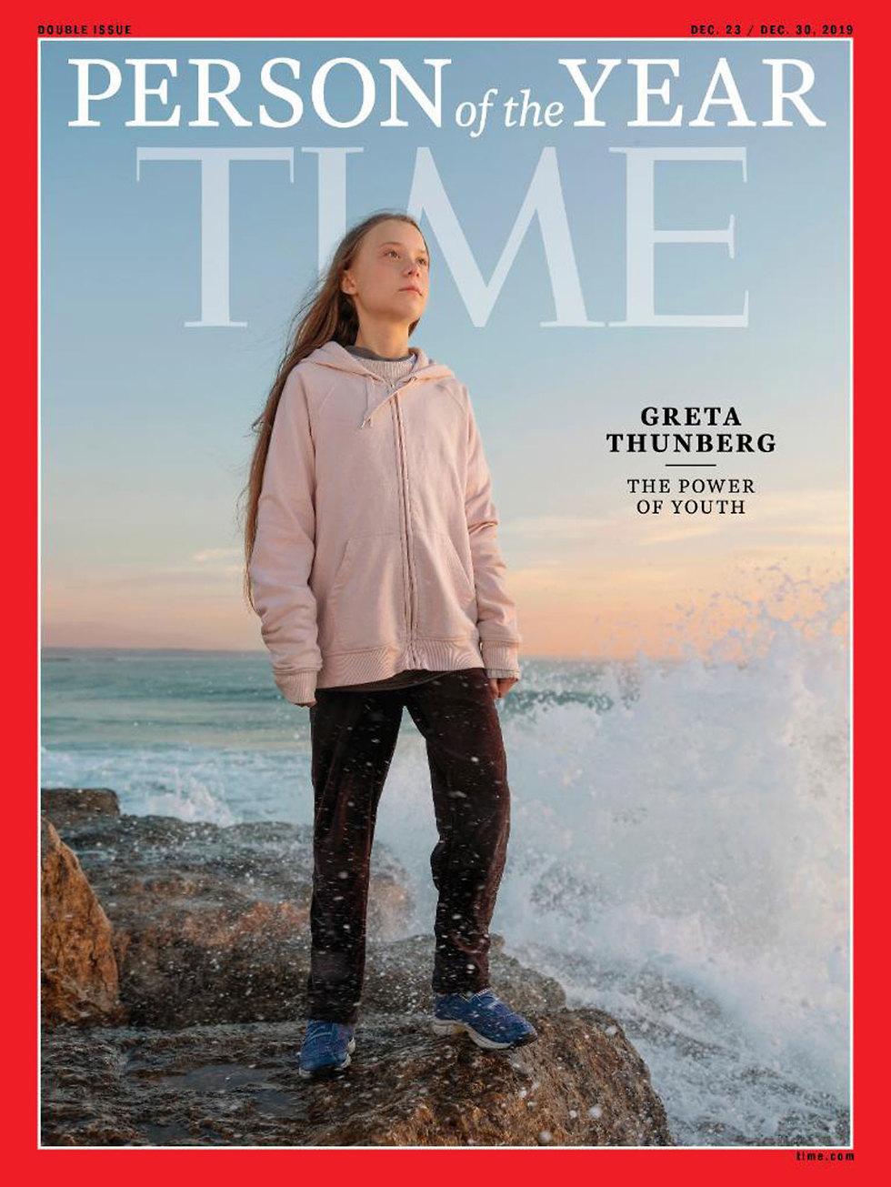 גרטה טונברג פעילת אקלים נערה שבדית כדור הארץ  ()