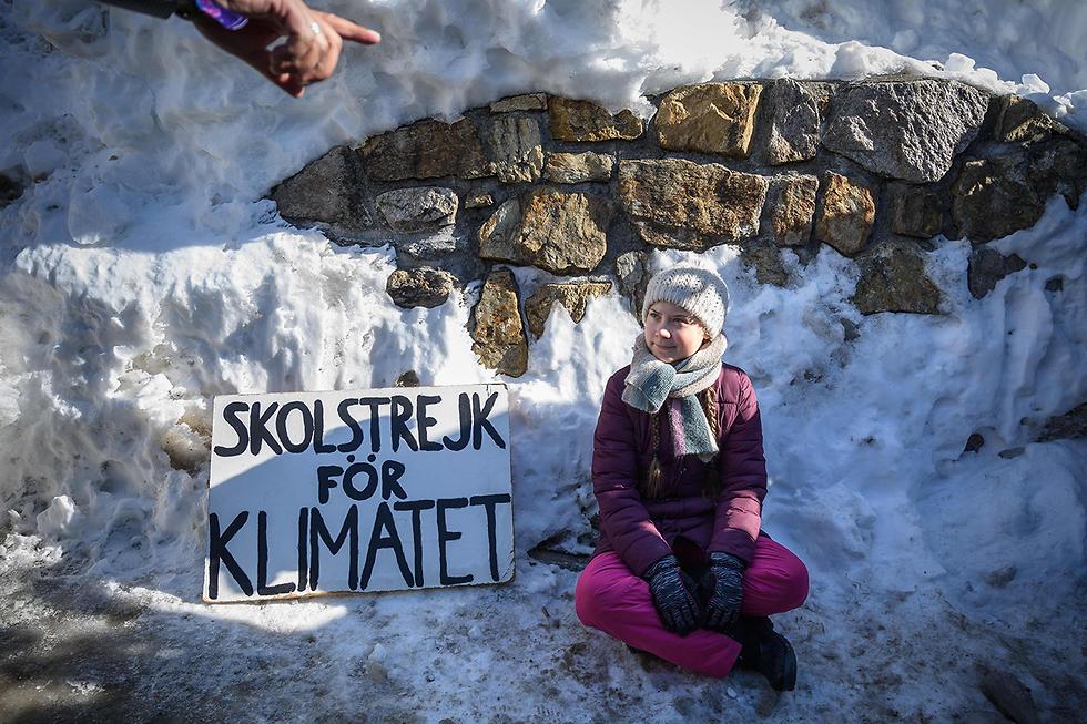 תמונות השנה AFP גרטה טונברג הכנס הכלכלי העולמי דאבוס שווייץ (צילום: AFP)