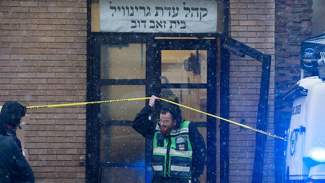 זירת הירי בניו ג'רזי בה נהרגו לאה מינדל ומשה דויטש (צילום: רויטרס)