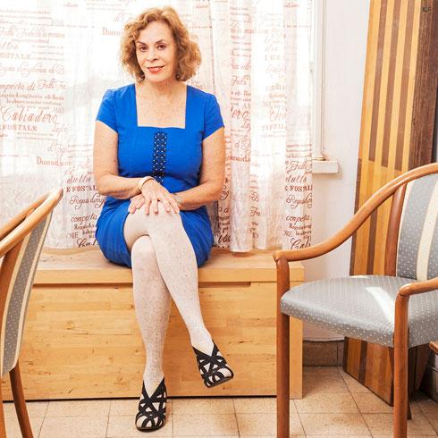 """""""אני מאמינה שהנקודה החשובה למעצבים היא יצירתיות בשיווק"""". אורנה רבינוביץ-פונדק  (צילום: אורנה רבינוביץ פונדק)"""