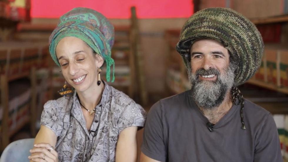 אייל ועינת איצקוביץ' (צילום מתוך הסרטון)