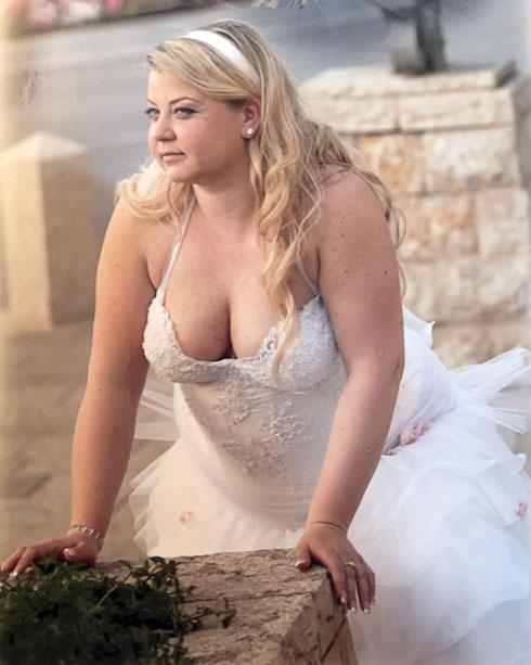 ליאתי בחתונה הראשונה (צילום: אלבום פרטי)