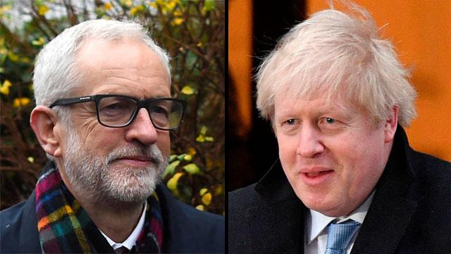 בחירות בריטניה בוריס ג'ונסון ג'רמי קורבין (צילום: MCT, gettyimages)