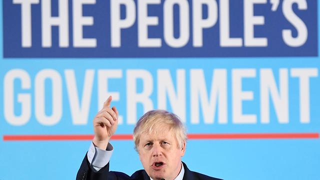 בריטניה בוריס ג'ונסון נאום ניצחון (צילום: EPA)