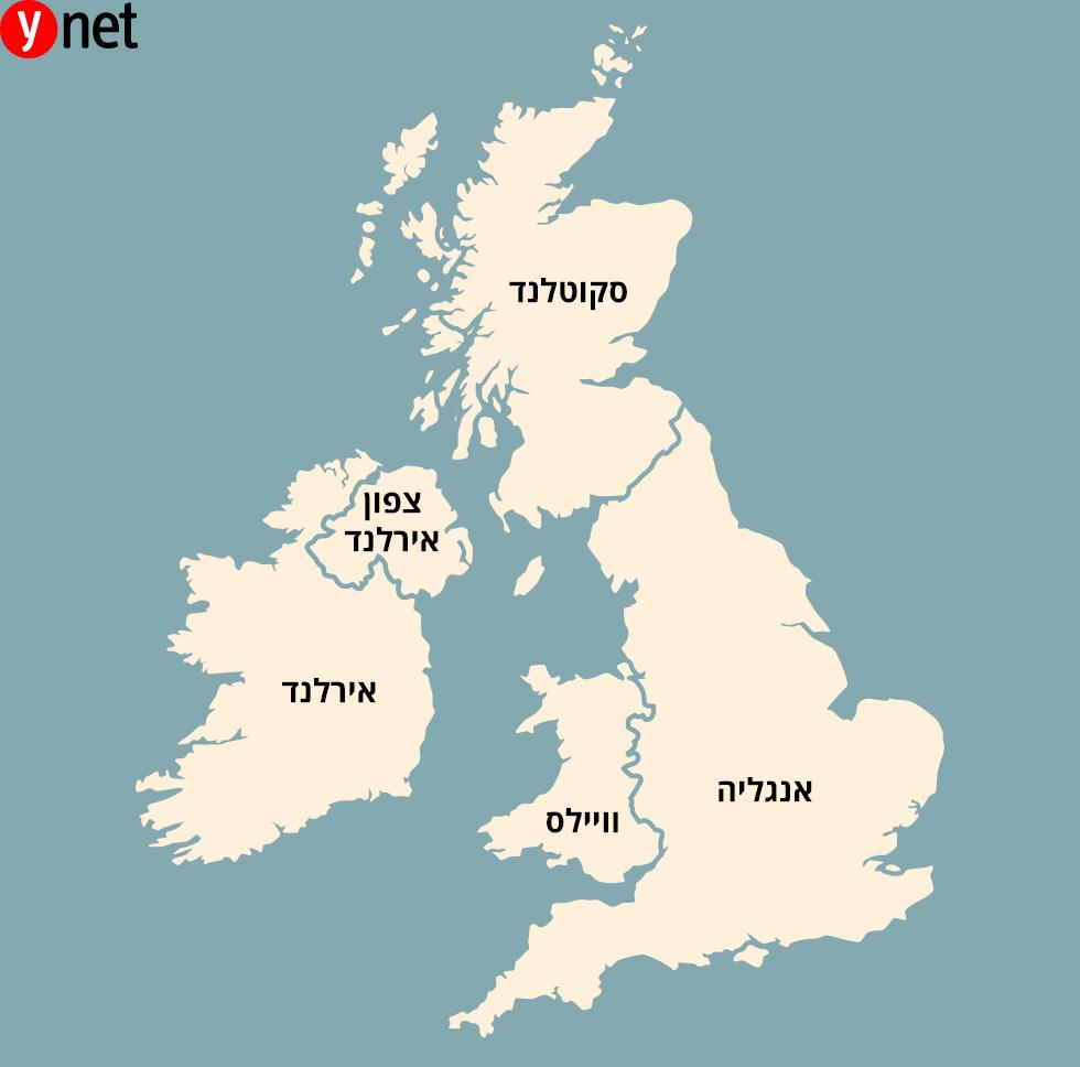 מפה אינפו בריטניה אנגליה סקוטלנד וויילס ויילס אירלנד צפון אירלנד ()