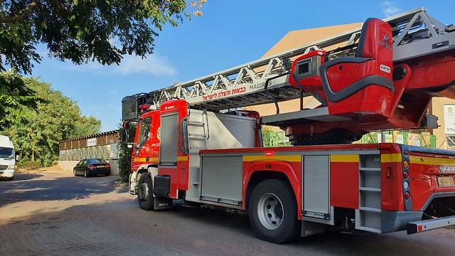השריפה ברמלה (צילום: שמוליק דודפור)