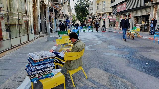 שוק לוינסקי הופך למדרחוב (צילום: עיריית תל אביב )