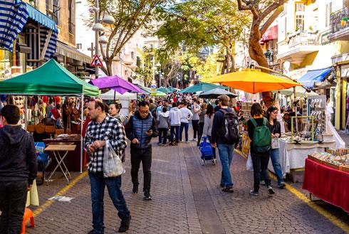מדרחוב נחלת בנימין. מאז 1986 (צילום: Subodh Agnihotri/Shutterstock)