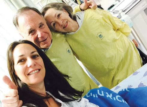 """קארן עם ההורים ג'ניס ודני גילרמן. """"זוגיות שהיא מודל לחיקוי""""  (צילום: אלבום פרטי )"""