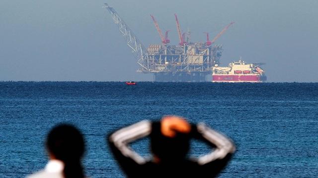 אסדת גז לוויתן (צילום: AFP)