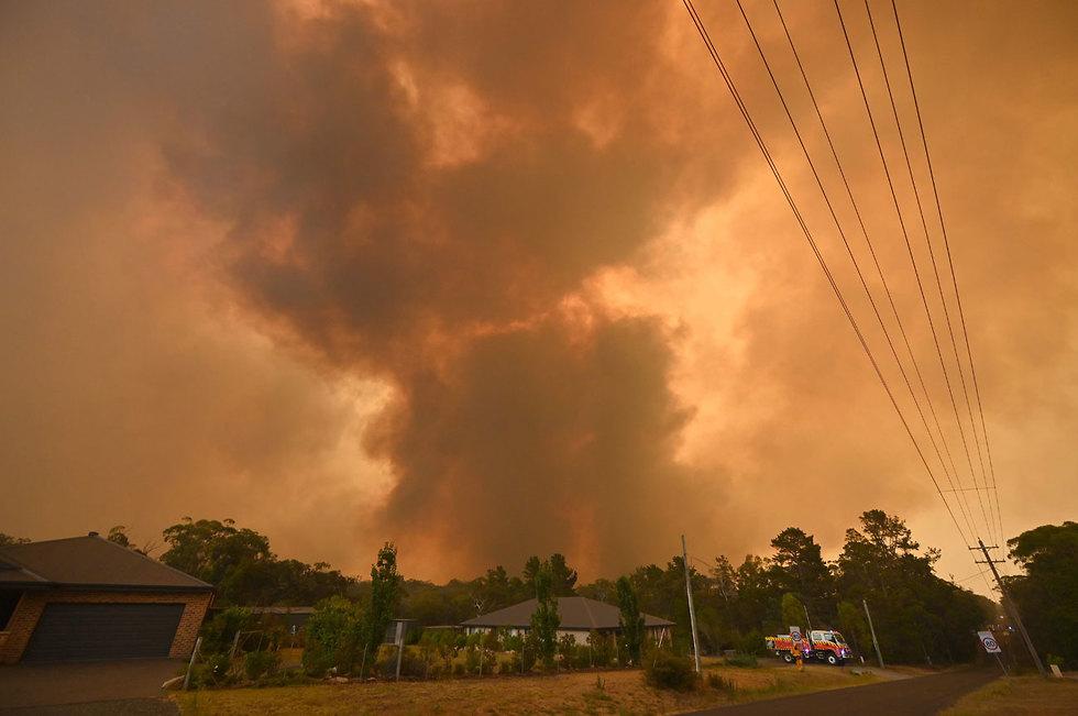 אוסטרליה שריפה שריפות ניו סאות' וויילס אזור סידני (צילום: AFP)