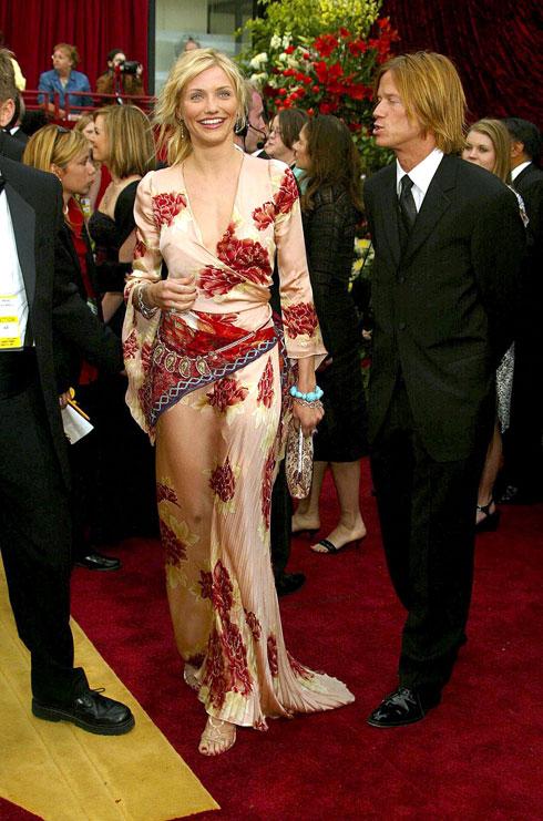קמרון דיאז בשמלה של אונגרו, 2002 (צילום: rex/asap creative)
