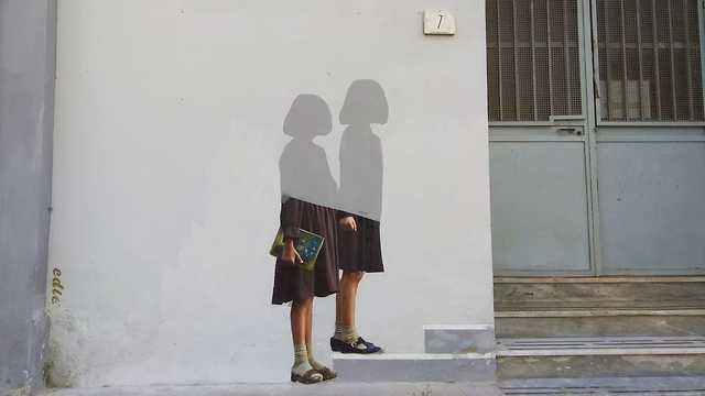 נאפולי איטליה ציור רחוב החברה הגאונה (צילום: רננה בן ארי וחגית אברון)