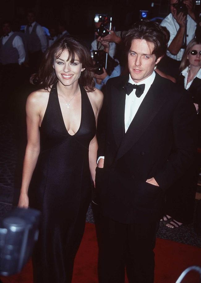 הוא בגד, היא סלחה וכנראה גם שכחה. אליזבת הארלי ויו גרנט, בן זוגה לשעבר והסנדק של בנה (צילום: Getty Images)
