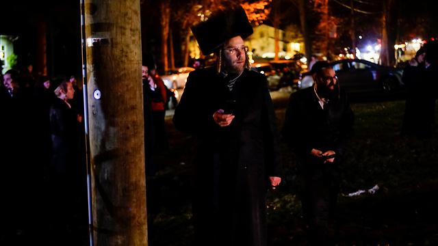אירוע דקירה בבית כנסת ליד ניו יורק (צילום: רויטרס)