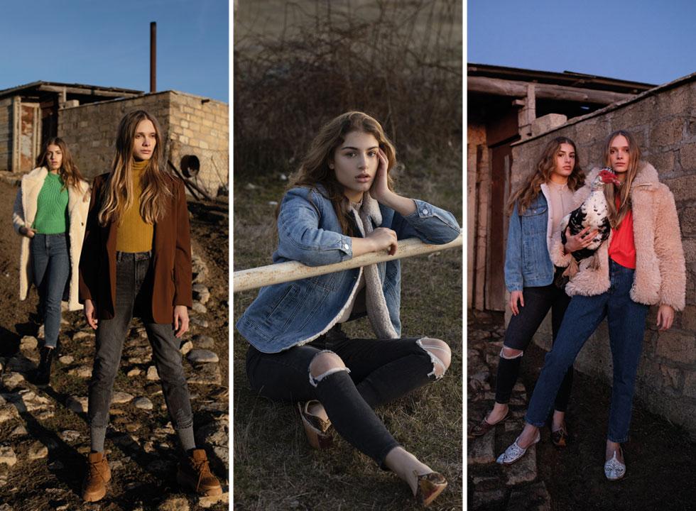 יפות בג'ינס. טליה צוקרמן וסתיו סטרשקו  בבאקו (צילום: זוהר שטרית סטיילינג: מזל חסון)