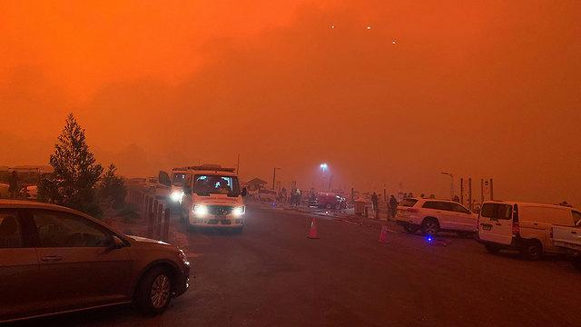 אוסטרליה מלקוטה שריפה אפוקליפסה (צילום: רויטרס)