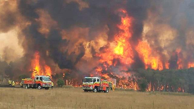 אוסטרליה צ'רמהאבן שריפות שריפה (צילום: AFP)