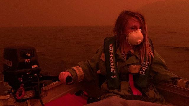 אוסטרליה מלקוטה ניו סאות' וויילס שריפות חוף ים ()