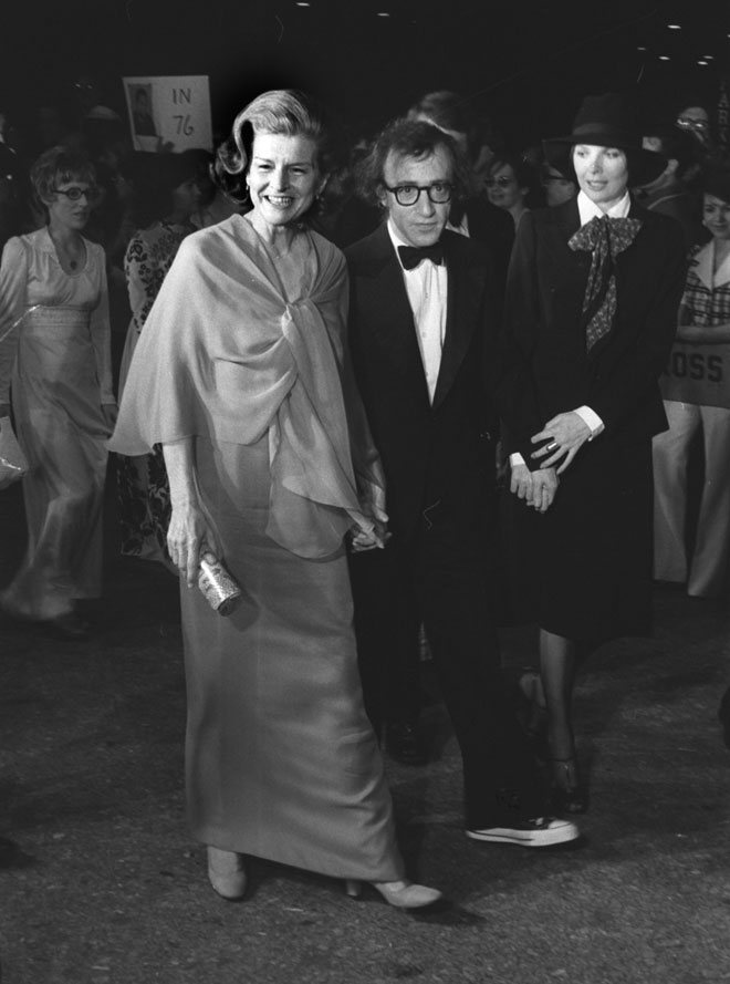 קיטון (מימין) עם וודי אלן ובטי פורד, 1975 (צילום: AP)