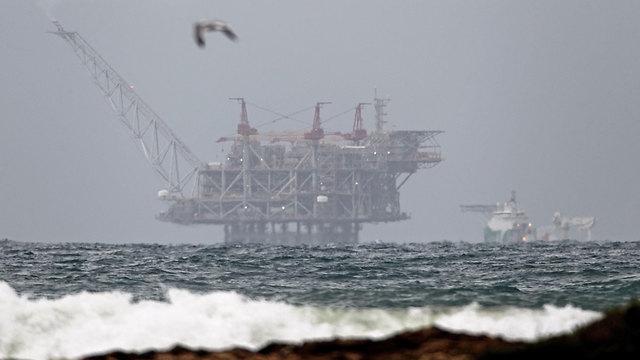 אסדת הלוויתן (צילום: AFP)
