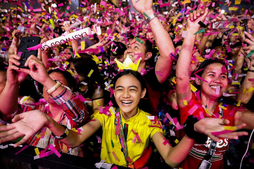 חגיגות השנה החדשה 2020 קואזון סיטי הפיליפינים (צילום: רויטרס)